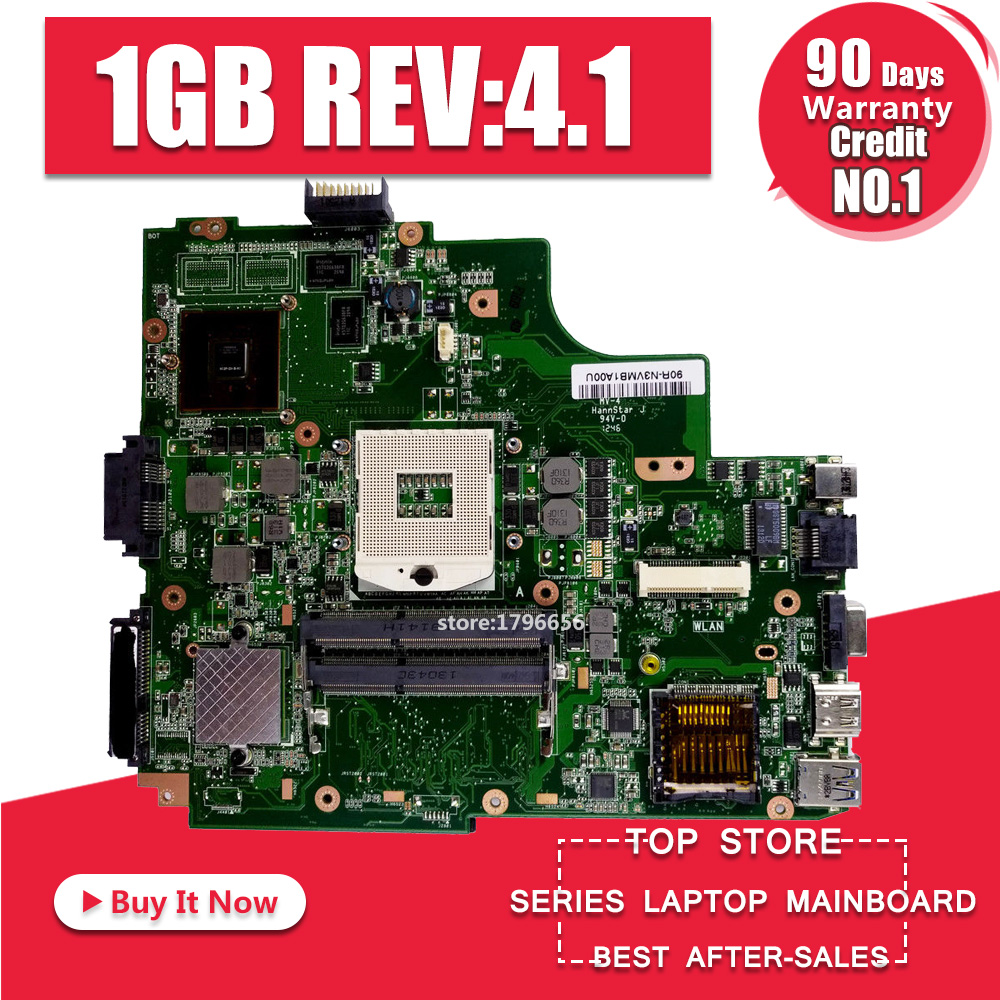 K43SV Motherboard REV:4.1 1GB HM65 For ASUS X43S A43S K43S A83S A84S K43SJ K43SV laptop Motherboard K43SV Mainboard 100% OK