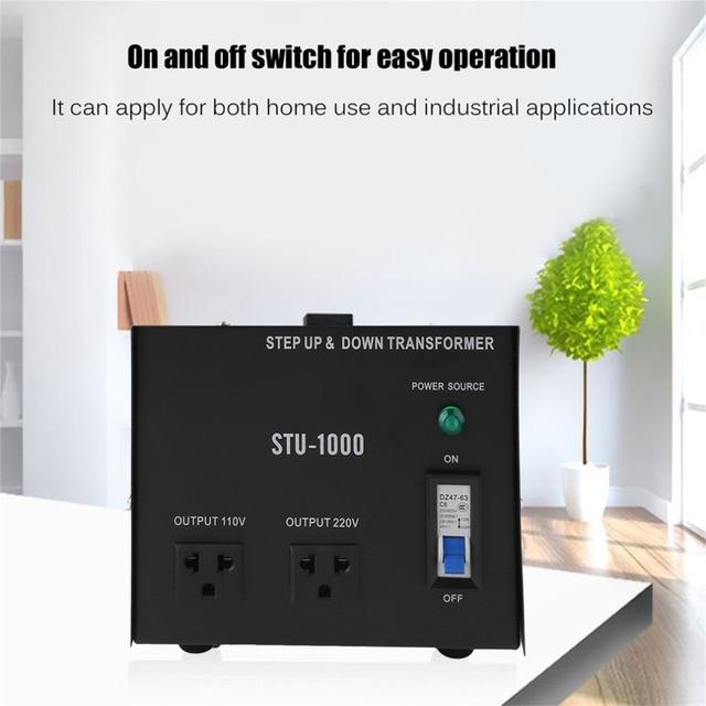 220 110V 1000W US Plug Step Up&Down Electrical Power Voltage ...