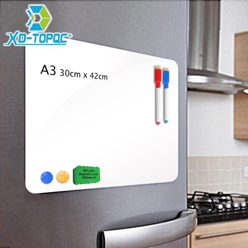 XINDI A3 30*42 cm Flexible Kühlschrank Magnete Whiteboard Wasserdichte Kinder Zeichnung Nachricht Bord Magnetischen Kühlschrank Memo Pad FM02