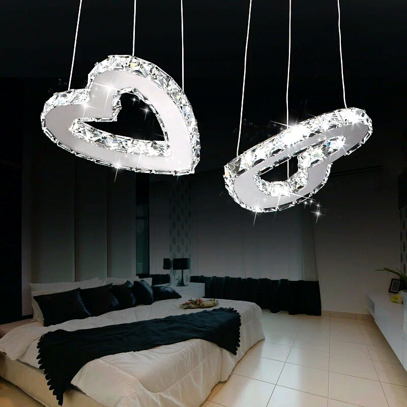 Children toy modern LED love heart pendant lamp and soul of the creative personality of the dining room crystal pendant lights children of rhatlan