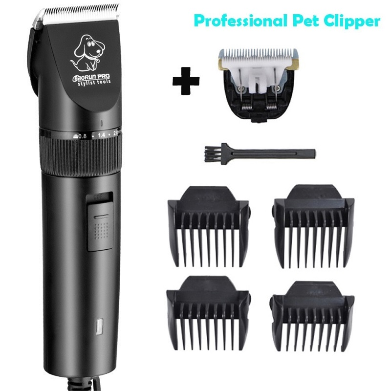professionelle hund haarschneider pet clipper wiederaufladbare haustier trimmer hundepflege. Black Bedroom Furniture Sets. Home Design Ideas