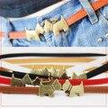 Бесплатная доставка новые популярные мода симпатичная собака животных пряжка винтаж отрегулируйте ремень пояс женщины тонкие украшения пояса бренд леди