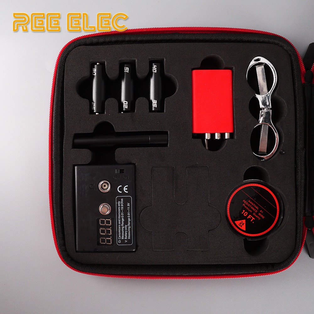 Electronic Cigarette Accessories Kit For RDA RTA Atomizer Ceramic Tweezers Coil Jig Plier Screw Heating Wire Resistance Tester