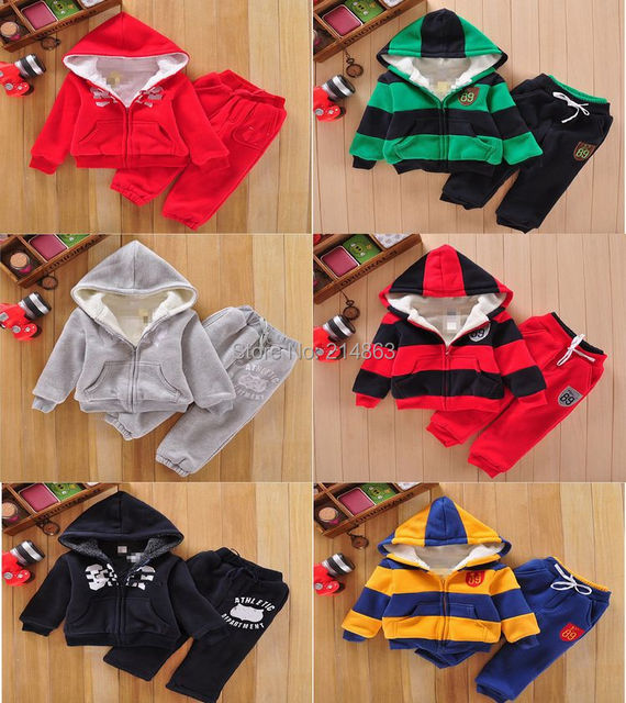 Retail 2014 New! brand baby children's clothing Hoodies coat +pants 2pcs set girls boys kids sport suit autumn winter clothes