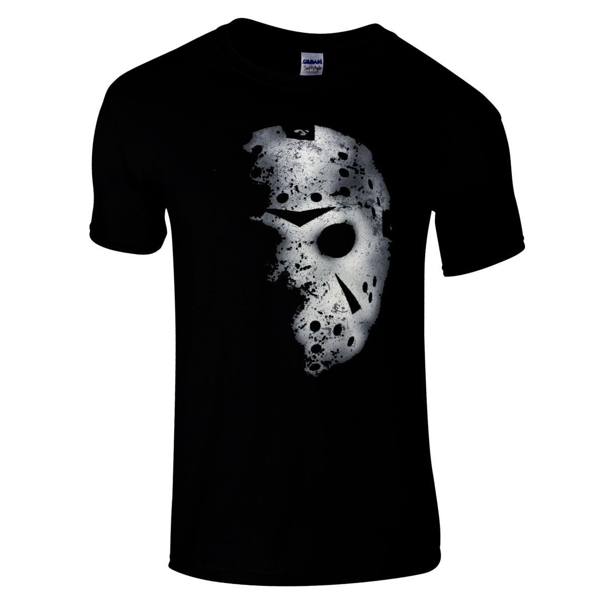 Jason Voorhees Hockey Mask Premium black regular fit horror T Shirt friday 13th Cool Casual pride t shirt men Unisex New
