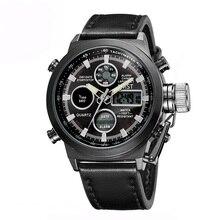 AMST Marque Double Affichage militaire montres hommes étanche Plongeur Militar Horloge montre-bracelet À Quartz montres à quartz-montre AM3003