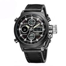 AMST Brand Dual Display military watches men waterproof Diver Militar Clock wrist watch Quartz wristwatches quartz-watch AM3003