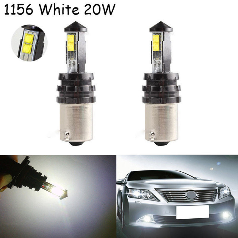 New Arrival 2X Bright BA15S 1156 21W Cree XTE Chips Led Car Backup Reverse Tail Turn Signal LED Light 2x 1156 ba15s p21w w cree chips q5 5w white led car reverse bulb for alfa romeo 155 156 164