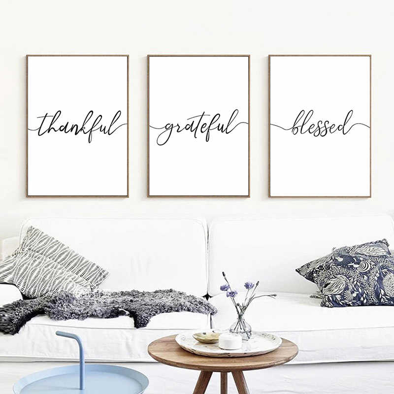 Minimalism Curve Abstract Text Picture Wall Art Quote Poster Canvas Prints Painting Modern Library Living Room Decor Best Gift