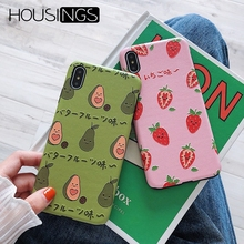 Housings Avocado Phone Cases For iPhone Xr X XS Max Soft Covers 7 8 6 6S Plus Protector Couqe Shockproof Bumper
