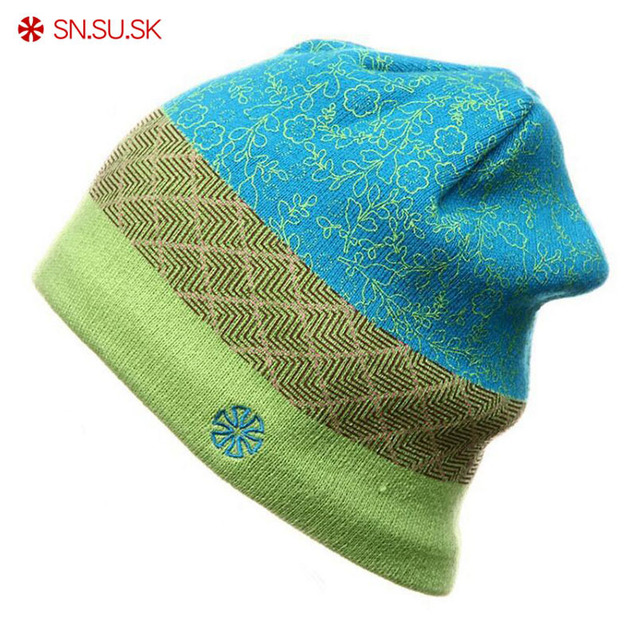 SK New Brand Unisex Caps Famous Men Women Skiing Hats Warm Winter Knitted  Knitting Ski Hat Beanies Turtleneck Cap 8a9af732a6e