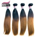 Envío Gratis Brasileño de la Virgen Extensiones de Cabello Ombre Productos Ombre Tejer 4 unids/lote MSLULA Pelo color Natural 1b y #8 OMBRE Pelo