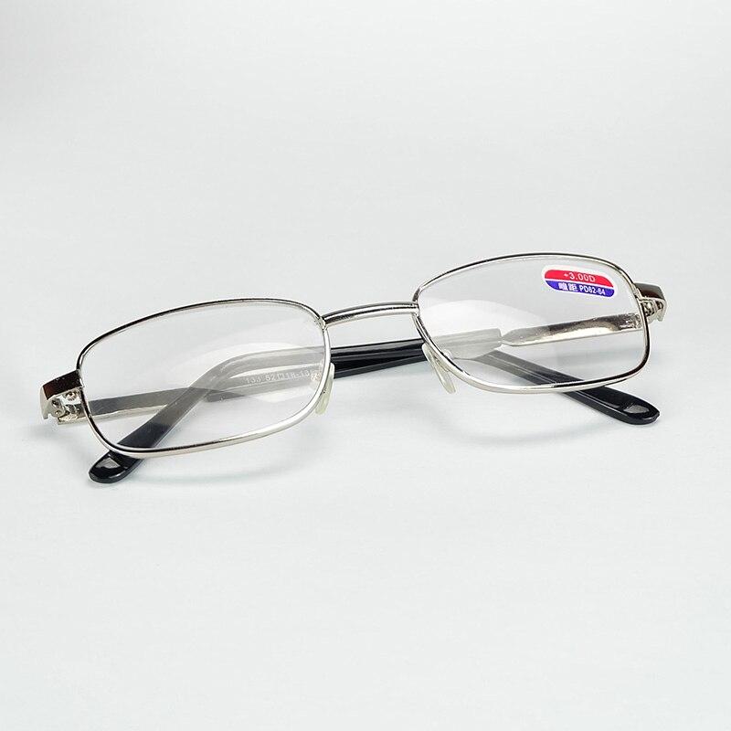 Ancianos Gafas de Lectura Borde completo Con Marco de Metal de Color ...