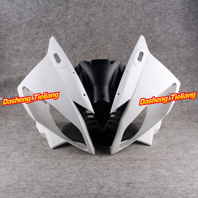 Unpainted Upper Front Fairing Nose Cowl for Yamaha 2006 2007 YZF R6, ABS Plastic
