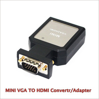 Mini VGA to HDMI Converter VGA Male 15pin to HDMI Converter Adapter With USB VGA 3.5mm Audio Output for PC Laptop DVD