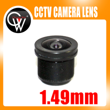 New 1.49mm lens 1/4″ M12 CCTV Board Lens For CCTV Security Camera /HD IP Camera Free Shipping
