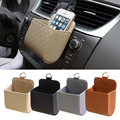 2016 Top Selling PU Leather Cars Vehicle Trash Mobile Phone Storage Holder Pouch Bag Organizer 4 Colors