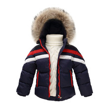 2016 Girl Winter Jacket Boys Parka Coat Warm Baby Girl Snowsuit Thick Real Fur Hooded Children