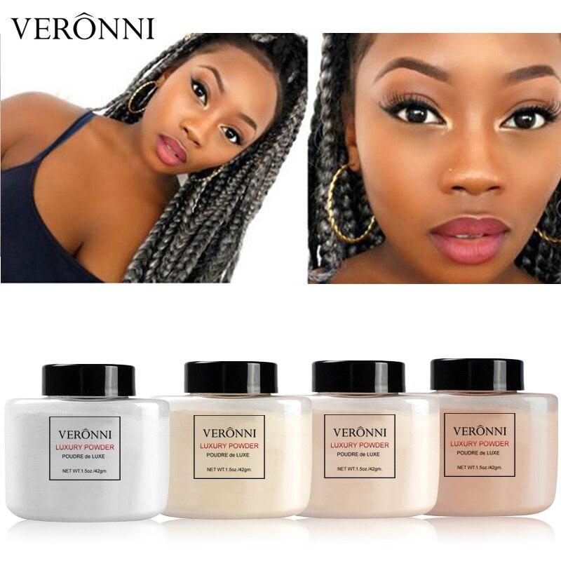 VERONNI Face Powder Makeup Matte Finish Loose Powder Natural Brighten Oil-control  Banana Loose Powder 42g