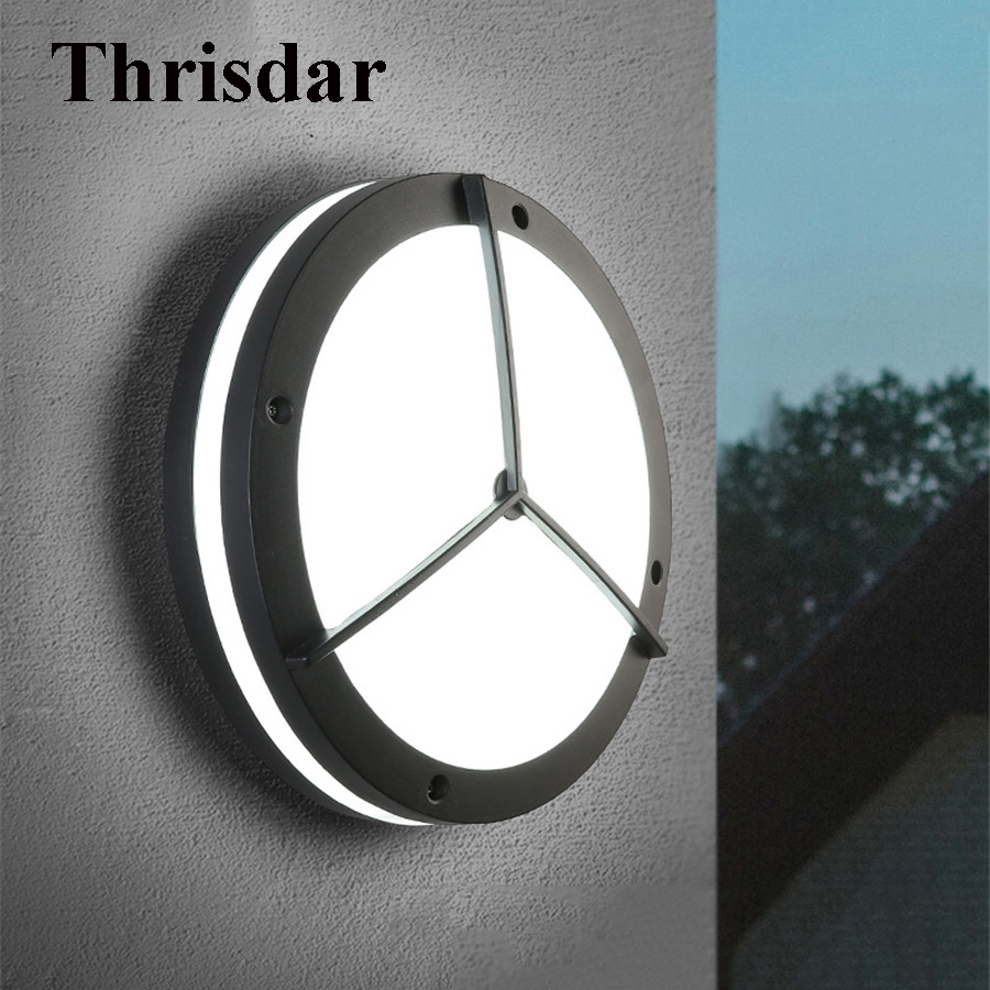 Thrisdar 24W Waterproof LED Porch Wall Light Outdoor LED Exterior Wall Light Aluminum Garden Fence Corridor Villa Wall Light