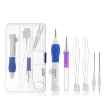 Набор волшебных ручек для вышивки «сделай сам», набор инструментов для вязания, дырокол, сшивание, ABS, перфоратор для пластика, игла LTT9591