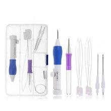 Magic Diy Borduren Pen Set Breien Naaien Tool Kit Punch Naald Stiksels Abs Plastic Punch Naald LTT9591