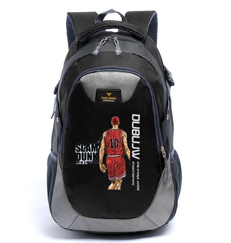 Anime SLAM DUNK Cosplay Rukawa Kaede Cos Cartoon student bag male and female travel backpack gift