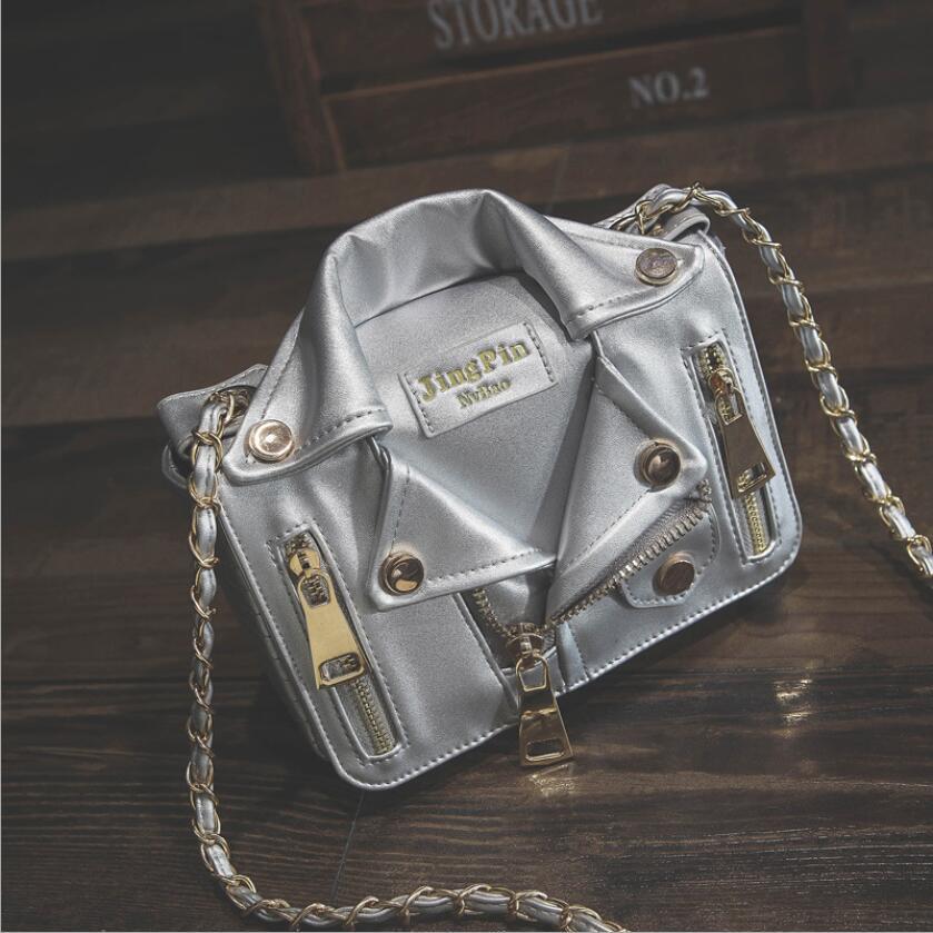 Femmes sac épaule luxe sacs à main designer zipper chaîne vêtements-forme Moto Biker PU cuir messenger bandoulière totes