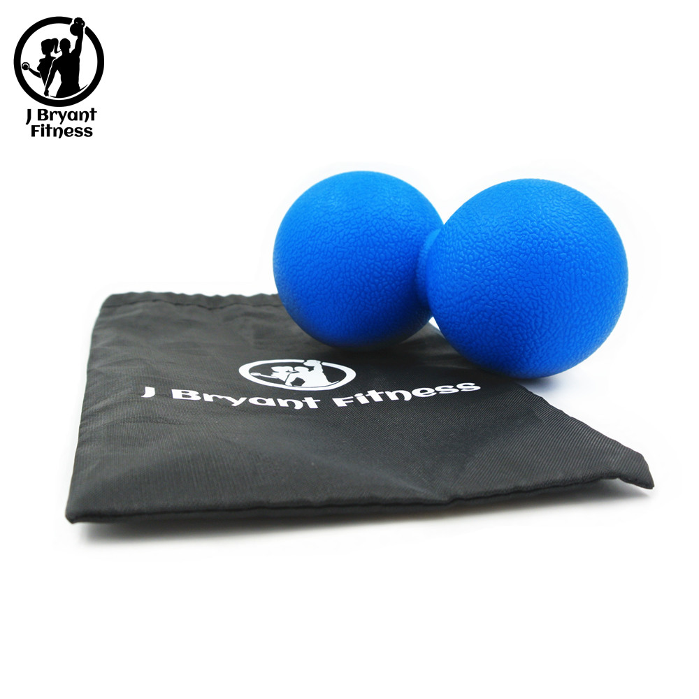 J Bryant Fitness Massage Ball And Peanut Double Lacrosse Ball For Trigger Point Therapy Myofascial Release Crossfit Pain Ball
