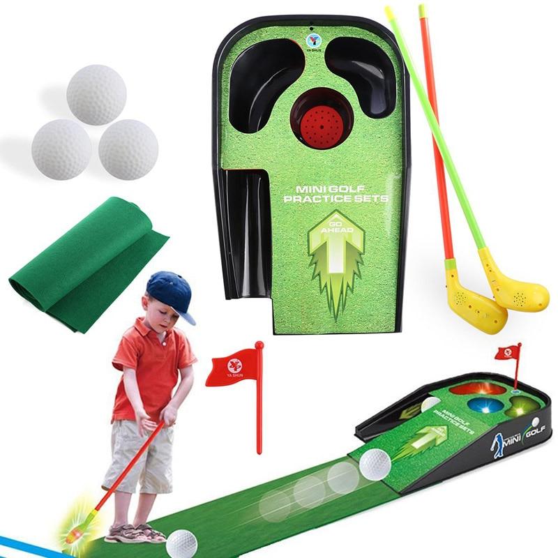 Indoor Mini Golf Set Practice Equipment Putting Green Mat Plastic Driver Golf Club Training Aids Kids Sport Trainer Accessories