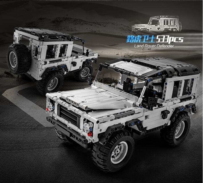 Technic série 553 pièces Defender RC voiture modèle SUV bricolage bloc de construction voiture brique jouets pour enfants Compatible avec Legoed - 4
