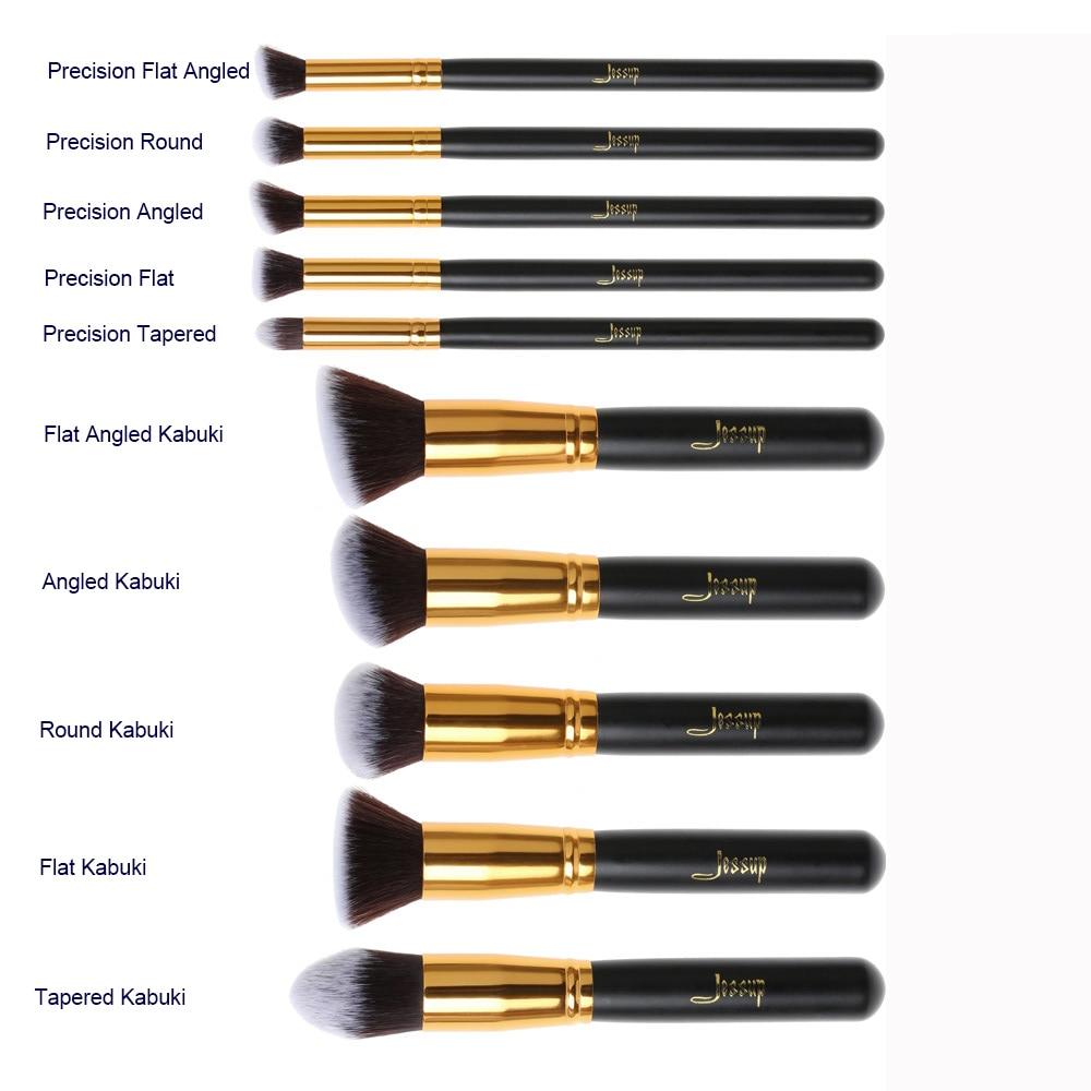 kabuki brush uses. jessup brand 10pcs black/gold makeup brushes beauty foundation kabuki cosmetics sets brush set blush kit tools-in underwear from mother uses