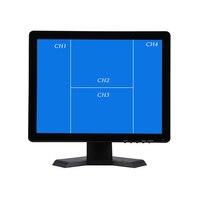 19 дюймов QUAD Экран дисплея CCTV TFT LED монитор с металлический корпус BNC разъем VGA для ПК Мультимедийный монитор Дисплей микроскоп