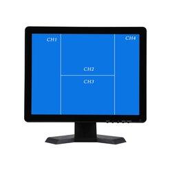 19 inch QUAD Scherm CCTV TFT LED Monitor met Metalen Shell BNC VGA Connector voor PC Multimedia Monitor Microscoop-in CCTV-monitor en -display van Veiligheid en bescherming op