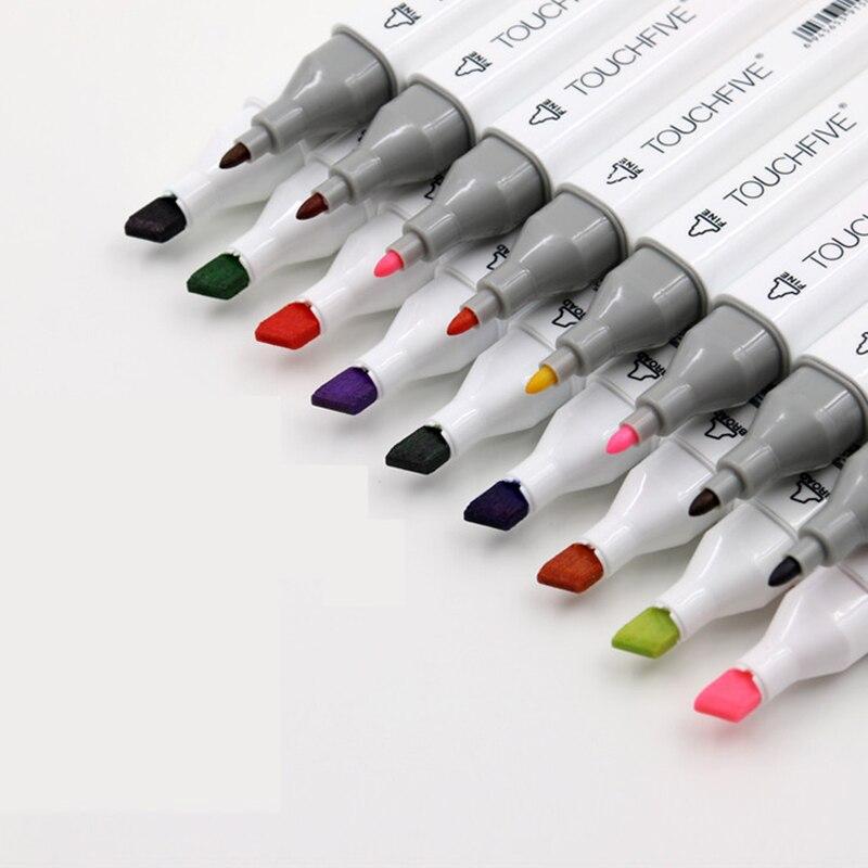 TOUCHFIVE дополнительный цвет двойная голова художественные Маркеры Ручка на спиртовой основе эскиз маркеры манга Рисование ручки художествен...