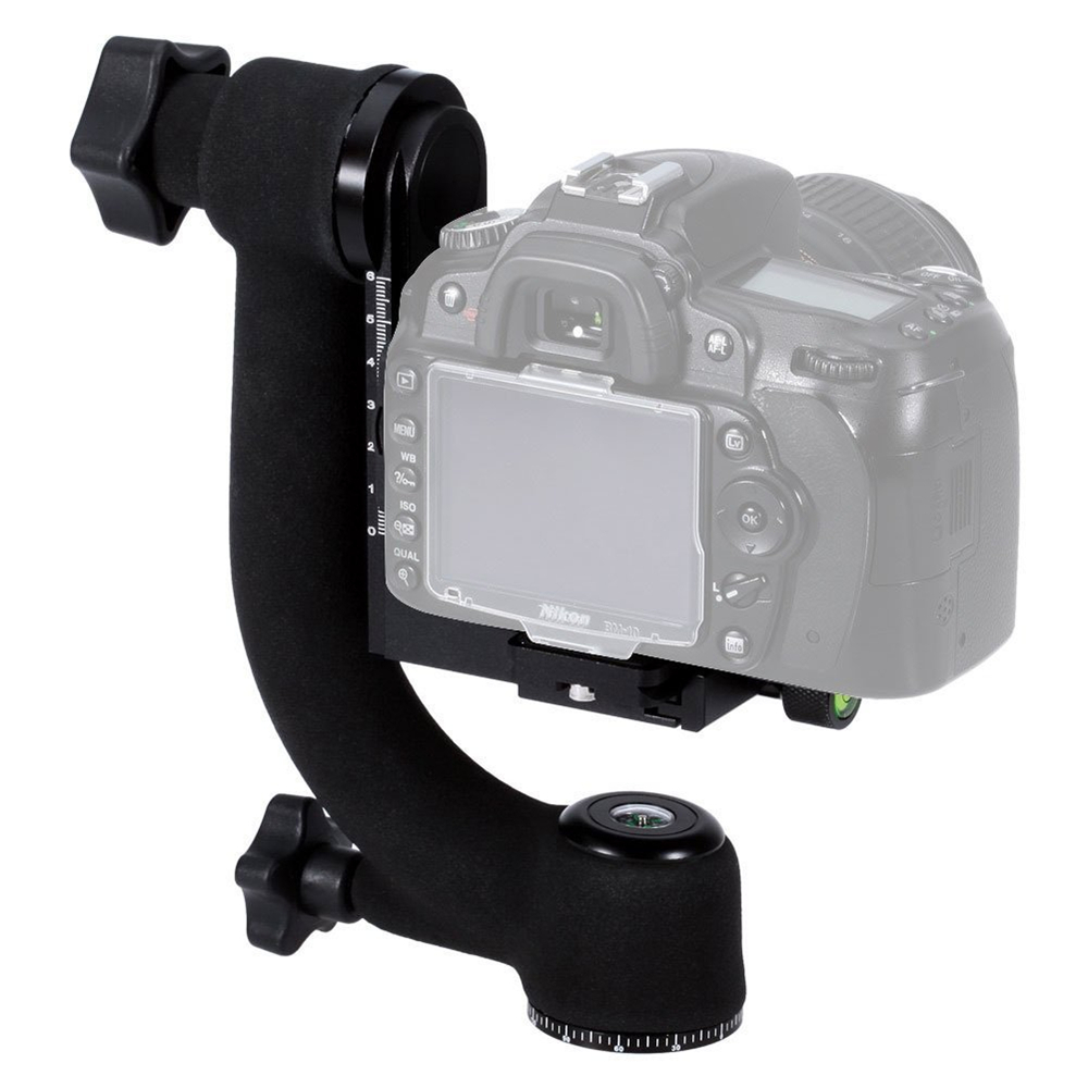 Professional Panoramic 360 Degree Vertical Pro Gimbal Tripod Head 1/4 Screw for Cannon Nikon Pentax Sony DSLR Cameras Camcorder