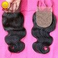 7A Virgin Brazilian Body Wave Silk Base Closure,Free/Middle/3 Part Cheap Silk Base Closures Brazilian Human Virgin Hair Closure