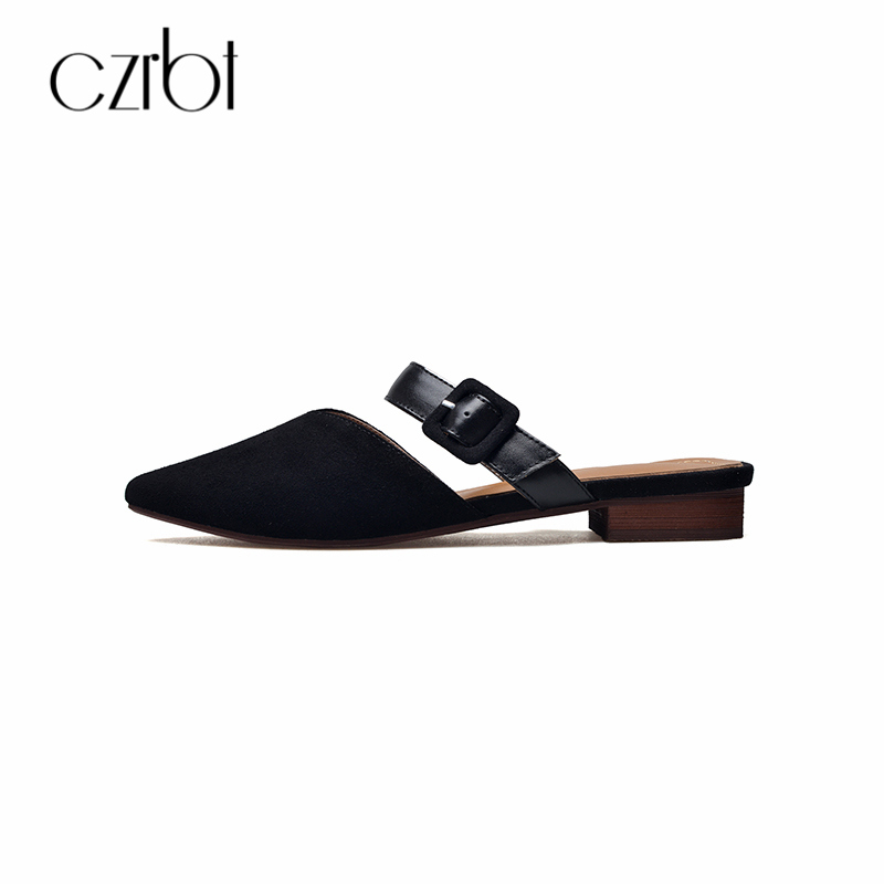 CZRBT 2018 Summer Manual Genuine Leather Buckle Strap Women Shoes 2cm Leisure Elegant Sandals Lnside And Outside Full Leather 2014 spring and summer new elegant gold buckle leather shoes women shoes carrefour