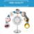 3X de Ampliación de Potencia De Luz LED de Doble Cara Plegable Portable Cosmético Espejo
