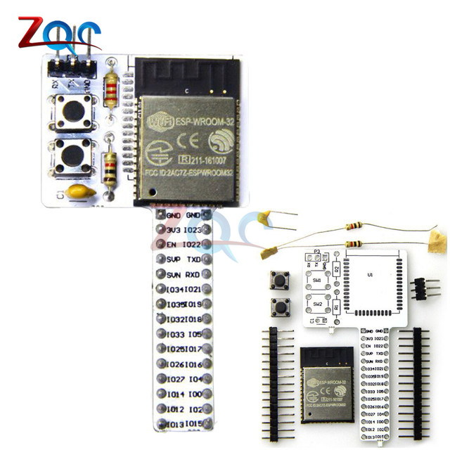 US $4 51 13% OFF|ESP32 Rev1 (REV one) WIFI Bluetooth Breadboard Module kit  ESP32 ESP 32 Development board ESP WROOM 32-in Instrument Parts &