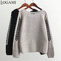 Ladies Jumpers 2016 The Latest Winter Pullovers Women Sweaters And Pullovers Hollow Strap Sleeve O Neck Pull Femme