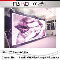 Flyko uso Interno bella sexy video hot girls led video panno P35mm 2.8x6 m