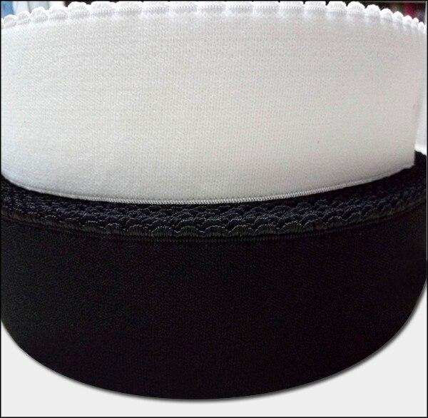 Cinta elástica de 15mm 20mm 25mm para ropa interior de sujetador 45 metros/banda elástica suave de gamuza blanco, Negro,-in Bandas elásticas from Hogar y Mascotas    1