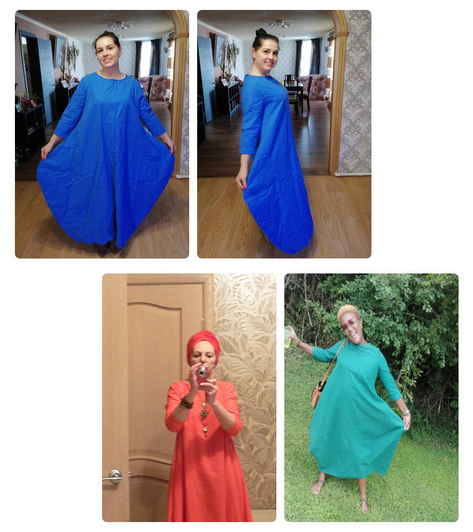 Kaftan Womens Maxi Dress Summer O Neck Long Sleeve Spring Cotton Linen Gown Robe Dresses Plus Size Large Size Dresses 11