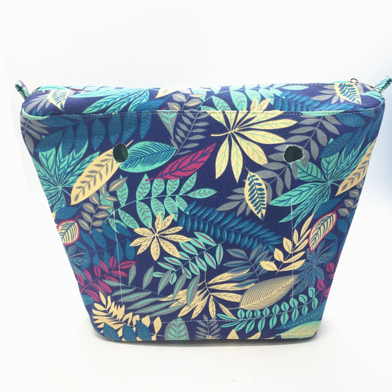 1 pcs New Inner lining Insert Zipper Pocket For Classic Obag Canvas insert with inner waterproof coating for O bag new flower printed insert inner zip pocket canvas plus handles companition for classic obag o bag women s handbags