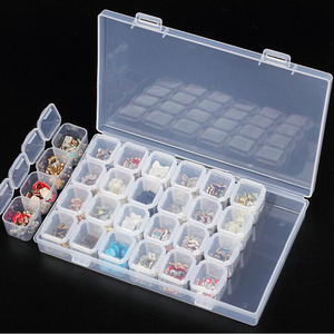 28/21/12Slots Diamond Embroidery Box Diamond Painting Accessory Case clear plastic Beads Display Storage Boxes Organizer Holder