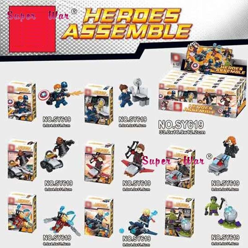 Friendly 80pcs Starwars Superhero Iron Man Thor Ragnarok Hawkeye Blocks Action Bricks Friends For Girl Boy House Kid Children Toys Selected Material Blocks