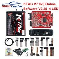 2019 KTAG V7.020 Master K TAG 7.020 KESS V2 5.017 Red PCB Euro ECU Chip Tuning Tool K TAG Full Adapters OBD2 ECU Programmer GPT