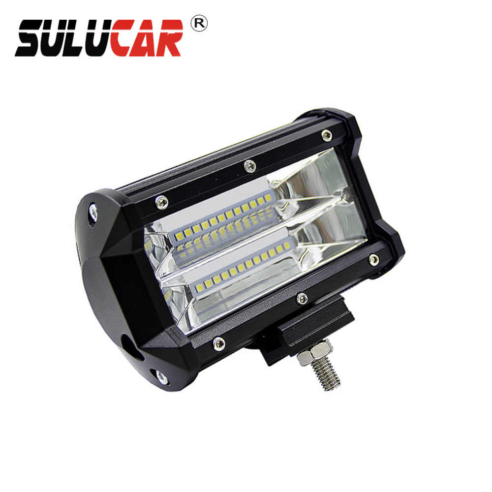 SULUCAR 1pcs 72W 6000K Led Work Lights High Power for Off Road  Modified Tractor Boat Off-road Driving Roof led Light Bar