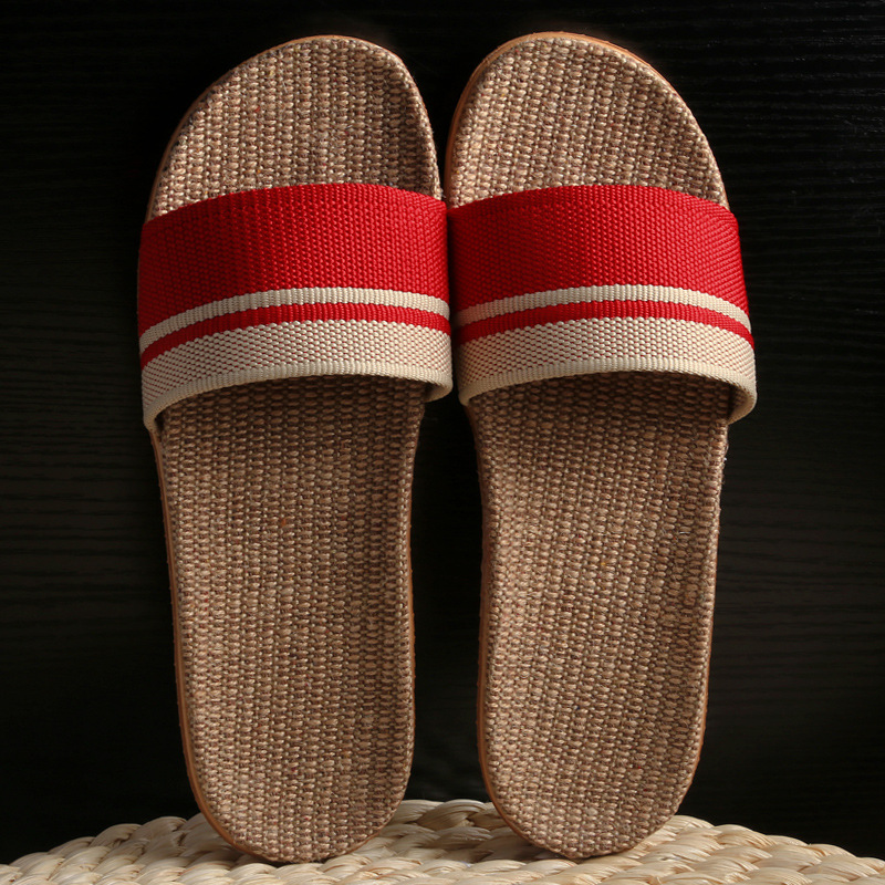 Linen Slippers Home Lovers Indoor Slippers Wooden Floor Cotton and Linen House Slip Summer Slippers Women Shoes in Slippers from Shoes